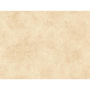 120th Anniversary Ecru and Beige Delia Damask Wallpaper