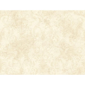 120th Anniversary Cream and Beige Delia Damask Wallpaper