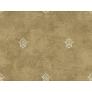 Charleston Gold and Cream Woven Spot Wallpaper