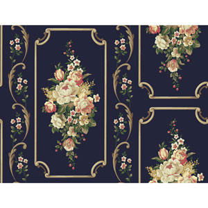 Casabella II Midnight Sky Floral Panel Wallpaper