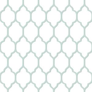 Casabella II Cream and Blue Moroccan Trellis Wallpaper