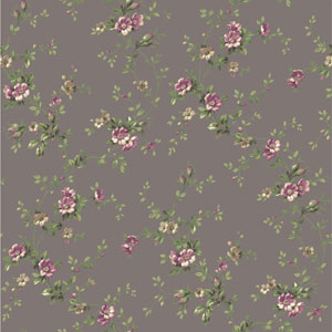 Casabella II Pewter Floral Trail Wallpaper