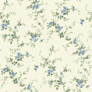 Casabella II Buttermilk Floral Trail Wallpaper