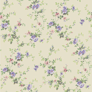 Casabella II Cream Floral Trail Wallpaper