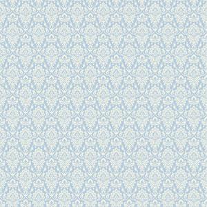 Casabella II Blue and White Intricate Damask Wallpaper