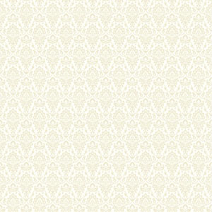 Casabella II Warm White and Ecru Intricate Damask Wallpaper