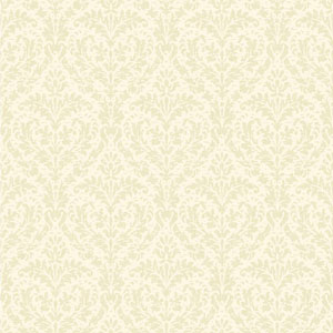 Casabella II Cream Sheen and Matte Cream Elegant Damask Wallpaper