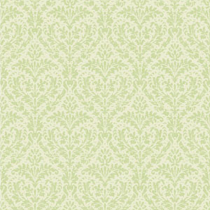 Casabella II Mint Green and Cream Elegant Damask Wallpaper