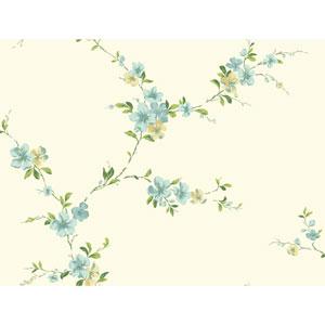 Casabella II Butter Cream Blossom Trail Wallpaper