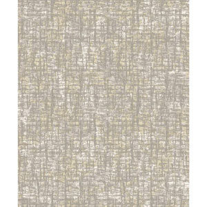 Mixed Metals Barkcloth Wallpaper