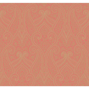 Antonina Vella Orange Kashmir Luxury Paisley Wallpaper