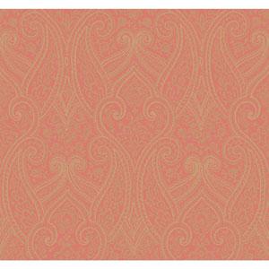 Antonina Vella Orange Kashmir Luxury Paisley Wallpaper