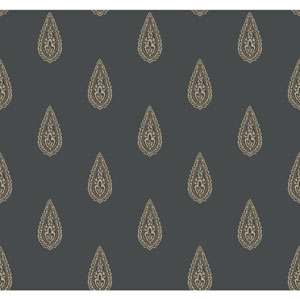 Antonina Vella Beige Kashmir Luxury Teardrop Wallpaper