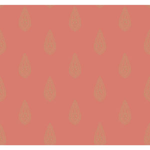Antonina Vella Orange Kashmir Luxury Teardrop Wallpaper
