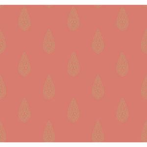Antonina Vella Orange Kashmir Luxury Teardrop Wallpaper