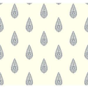 Antonina Vella Blue Kashmir Luxury Teardrop Wallpaper