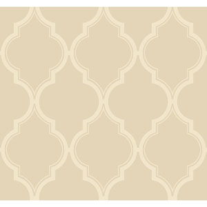 Antonina Vella Beige Kashmir Luxury Trellis Wallpaper