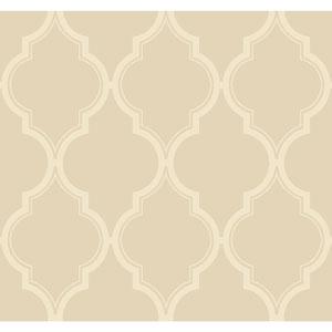 Antonina Vella Beige Kashmir Luxury Trellis Wallpaper