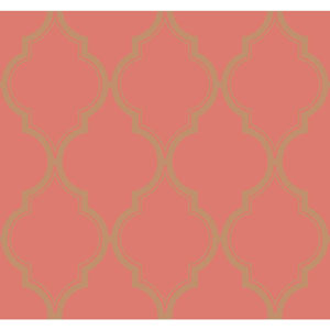 Antonina Vella Orange Kashmir Luxury Trellis Wallpaper