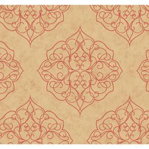 Antonina Vella Multicolor Kashmir Rose Window Wallpaper