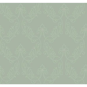 Antonina Vella Blue Kashmir Stitched Ornamental Wallpaper