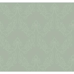 Antonina Vella Blue Kashmir Stitched Ornamental Wallpaper
