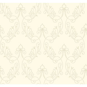 Antonina Vella Ivory Kashmir Stitched Ornamental Wallpaper
