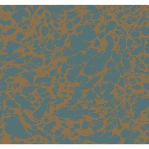 Antonina Vella Blue Kashmir Marble Wallpaper