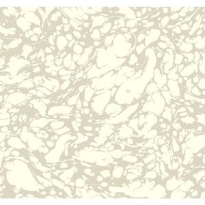 Antonina Vella Ivory Kashmir Marble Wallpaper