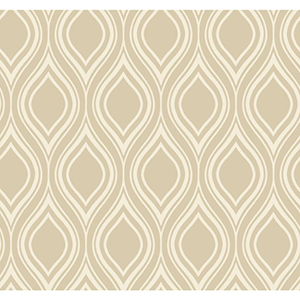 Inspired by Color Taupe Ogee Wallpaper