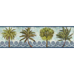 Border Portfolio II Delray Palm Removable Wallpaper Border