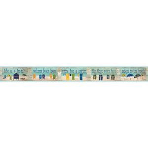Border Portfolio II Beach House Rules Removable Wallpaper Border