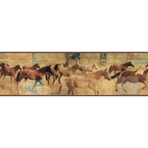 Border Portfolio II Pony Express Removable Wallpaper Border