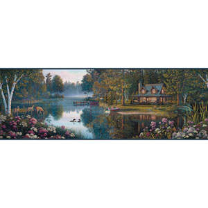 Border Portfolio II Meditation Lake Removable Wallpaper Border
