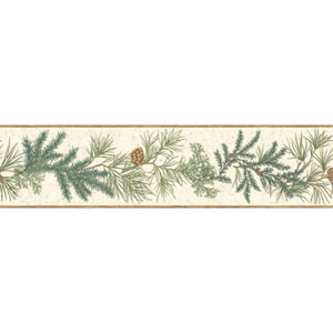Border Portfolio II Conifer Removable Wallpaper Border