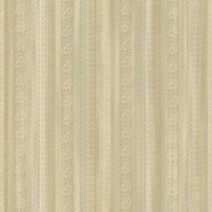 Saint Augustine Eggshell, Cream and Sea Spray Blue Lace Sidewall Wallpaper