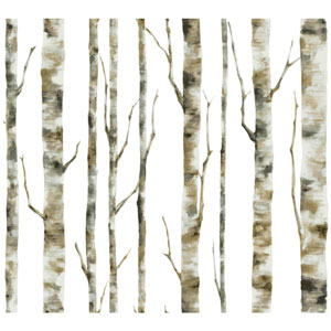 Room To Grow White Enchanted Forest Wallpaper