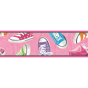 Room To Grow Pink Sneakers Border