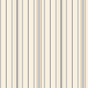 Room To Grow White and Blue Wide Pinstripe Wallpaper