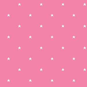 Room To Grow Pink and White Stars Wallpaper