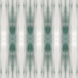 Carol Benson-Cobb Beneath Textile Green Wallpaper Panel