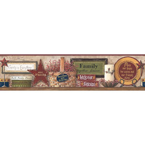 Border Portfolio II Multicolor Friends and Family Shelf Border