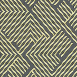 Culture Club Charcoal and Gold Geometric Wallpaper