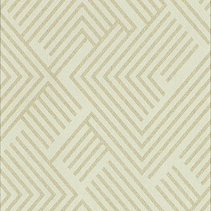 Culture Club Cream and Gold Geometric Wallpaper