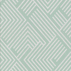 Culture Club Mint Green and Silver Geometric Wallpaper