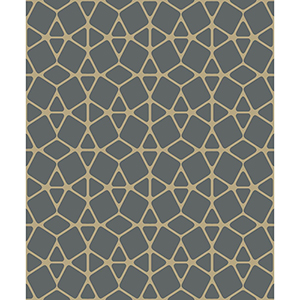 Culture Club Black and Gold Geometric Wallpaper