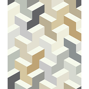 Culture Club Neutral Geometric Wallpaper
