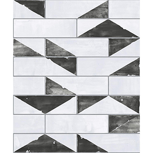 Culture Club Black and White Geometric Wallpaper