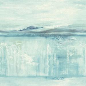 Coastal Impressions Teal Wallpaper