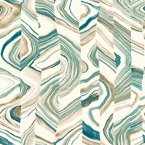 Agate Stripe Teal Wallpaper